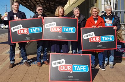 TAFE vacancies: a reminder.  We need to hear from members again
